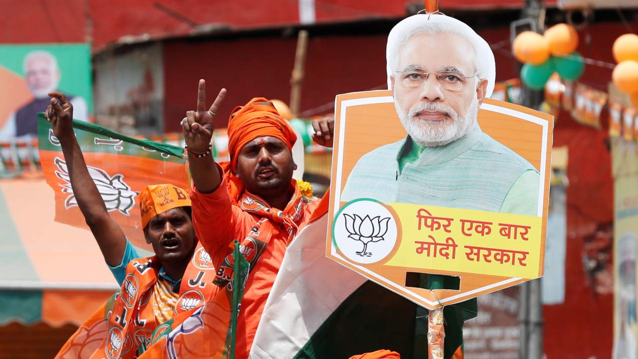 Supporters of India's Prime Minister Narendra Modi are pictured during a roadshow in Varanasi, India. (Image: Reuters)