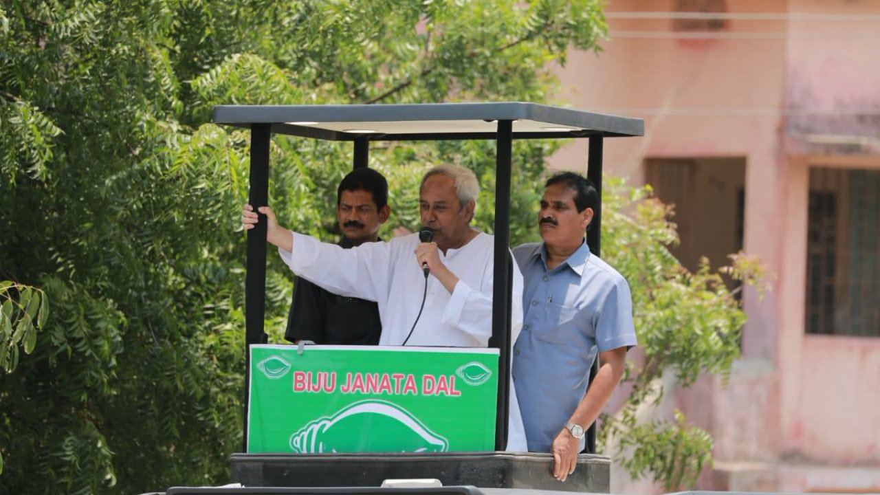 Odisha Chief Minister Naveen Patnaik during a rally in Kendrapara, Odisha. (Image: Naveen Patnaik/Twitter)