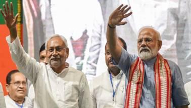 PM Narendra Modi, CM Nitish Kumar share stage at rally; Tejashwi Yadav rakes up DNA jibe