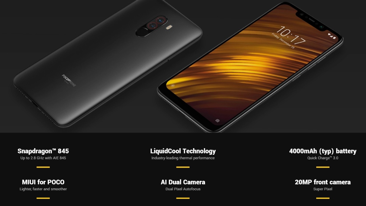 Xiaomi Poco F1 | Rs 17,999 | Snapdragon 845 | 6GB RAM | 64GB Storage | 6.18-inch FHD+ LCD | 12MP + 5MP Rear Camera | 20MP Front Camera | The Poco F1 is a pretty solid handset even by today's standards. Although the camera setup and design on the Poco F1 may not be up to the mark, performance stands out at this price range. The Snapdragon 845 chipset makes the Poco F1 perfect for gaming and multitasking.