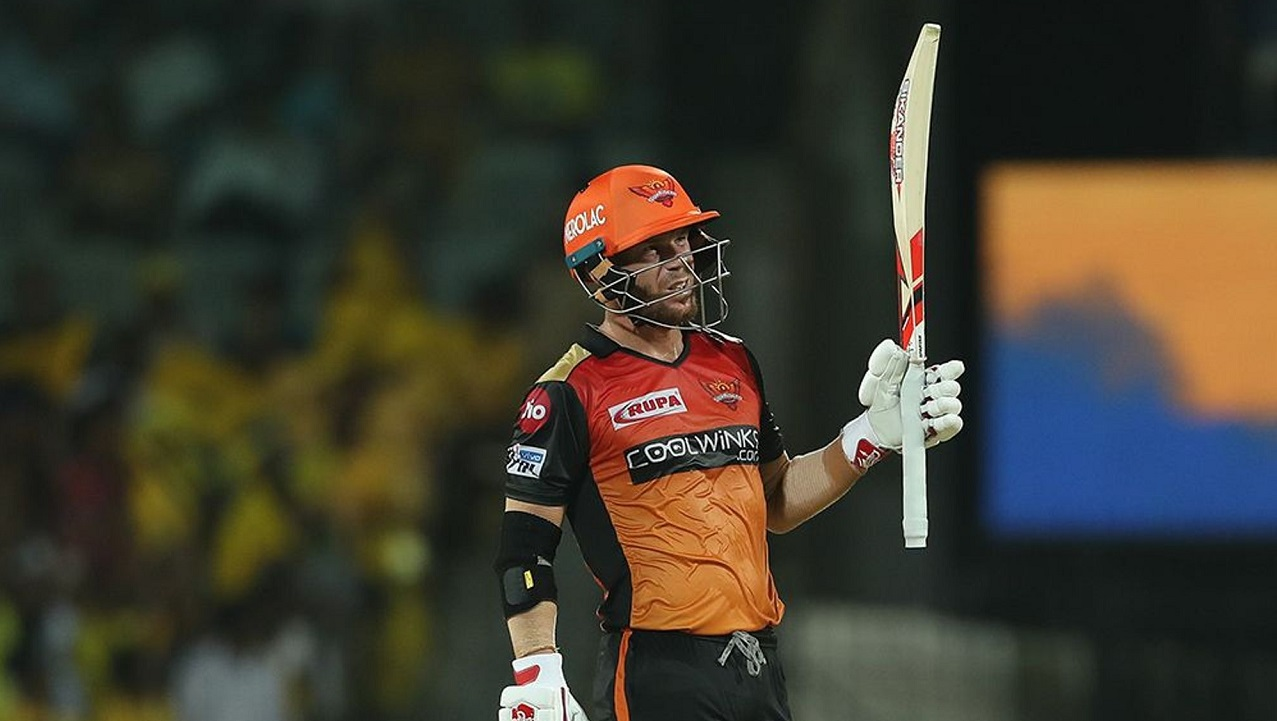 Warner brought up his half-century in the 12th over.