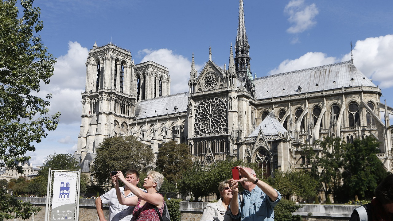 The Notre Dame Cathedral's construction began in 1163. Located in Paris, the cathedral is an important example of French Gothic architecture. (Image: Reuters)