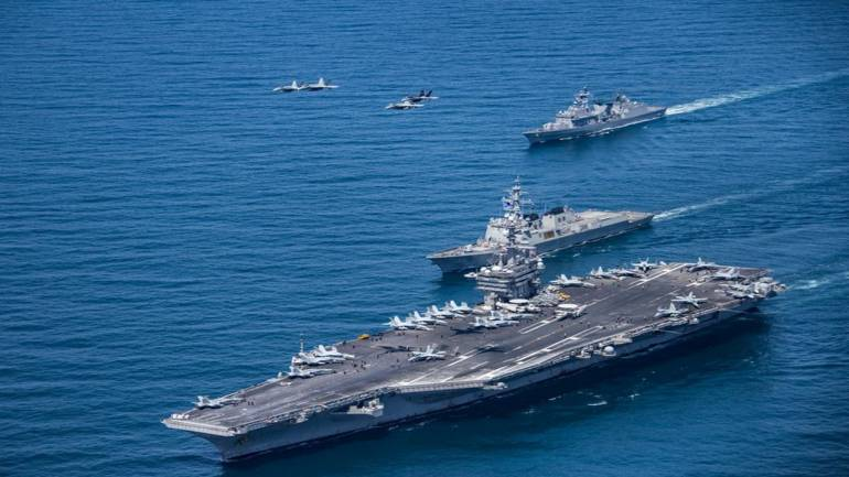 US, Japan, India and Philippines challenge Beijing with naval drills in the  South China Sea