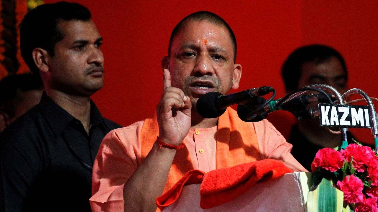 "Yogi Adityanath, BJP | The Uttar Pradesh Chief Minister was barred from poll campaigning for 72 hours for his ""Ali"" and ""Bajrang Bali"" remarks, with effect from 6 am on April 16. The BJP leader had compared the Lok Sabha elections to a contest between 'Ali', a revered figure in Islam, and Bajrang Bali, another name of the Hindu god Hanuman while addressing a rally in Meerut. (Image: Reuters)"
