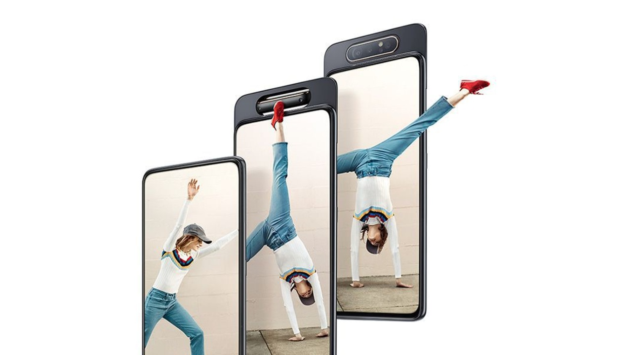 Best Smartphone Camera Innovation | Galaxy A80 | The Galaxy A80 is another of those smartphones that allows you to use the rear camera module as the front camera. The triple camera on the back includes a primary, ultra-wide and ToF sensor that rises upwards and flips forward when you need to take selfies. The A80 gets a 48-megapixel primary sensor, 8-megapixel ultrawide lens and a 3D depth sensor. The Galaxy A80 allows you to use Super Steady video, Scene Optimiser, Flaw detection, Super Slow-Motion, and AR Emojis on both the front and back.