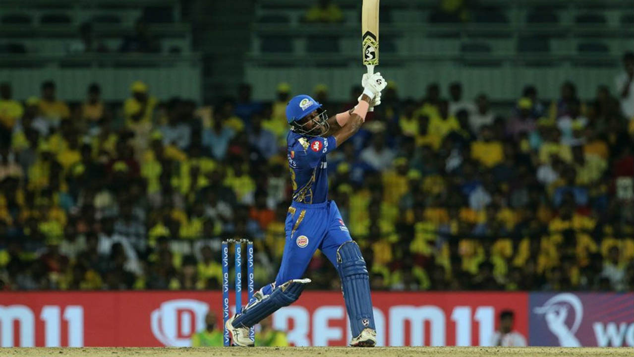 Hardik Pandya (23 off 18) and Kieron Pollard (13 off 12) could only add 33 runs off the last 22 balls as Mumbai finished with 155/4. Mitchell Santner was the pick of the bowlers finishing with figures of 4-0-13-2. (Image: BCCI, iplt20.com)