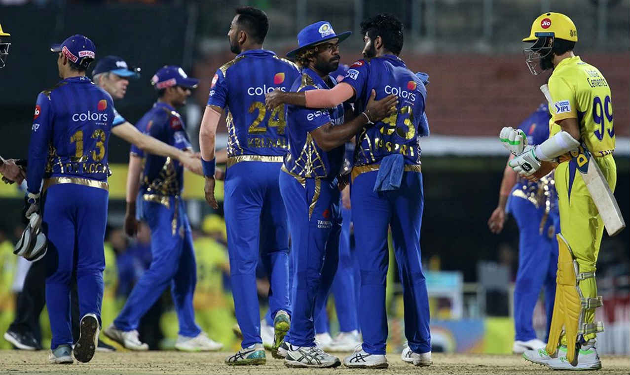 Malinga wrapped up proceedings by getting rid of both Harbhajan Singh and Santner in the 18th over. The Sri Lankan finished with 4/37 as Chennai were bowled out for just 109 runs, their lowest total at home. Mumbai who won by 46 runs went up to second spot on the table. (Image: BCCI, iplt20.com)