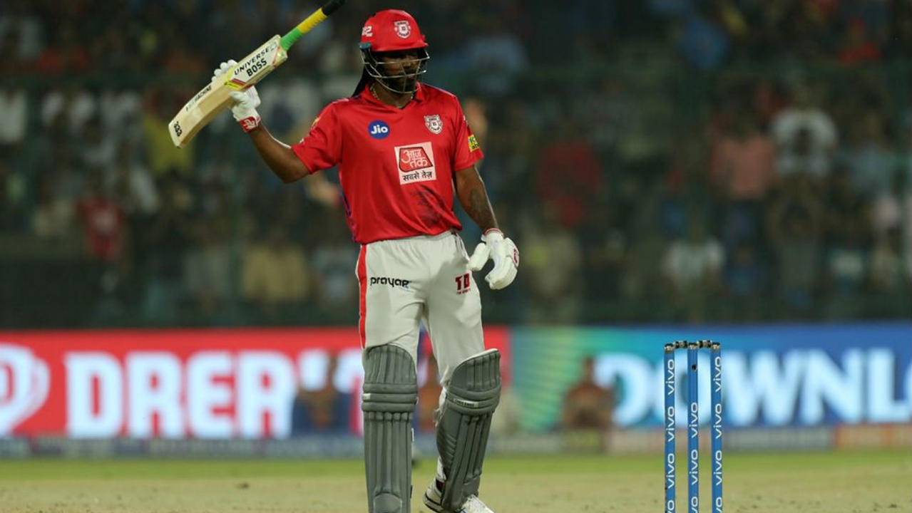 Gayle didn't let the fall of wickets bother him as he went about business as usual from the other end. He brought up his 50 off just 25 balls in the 9th over but was finally dismissed by Lamichhane in the 13th over. Gayle returned after scoring 69 off just 37 balls. (Image: BCCI, iplt20.com)