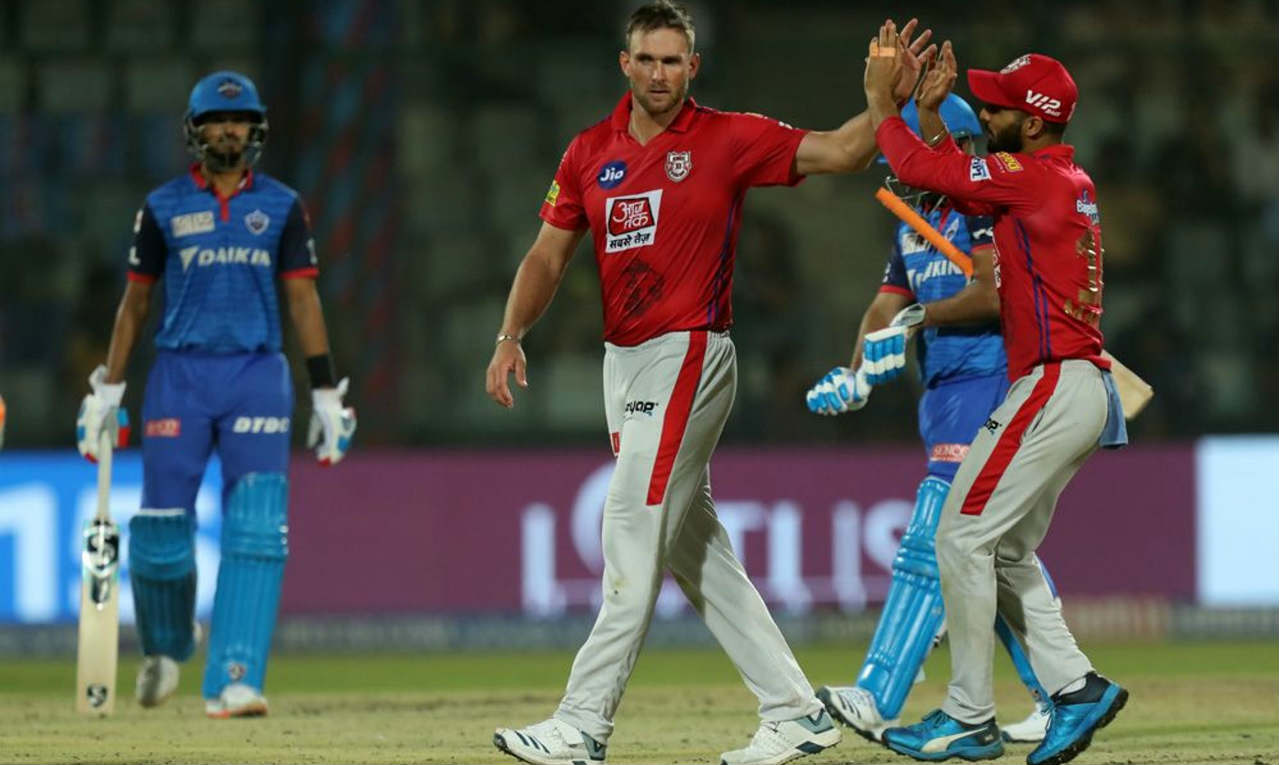 Rishabh Pant scored just 6 runs before throwing away his wicket. He went for the big shot against Hardus Viljoen but found Sam Curran at deep square leg. Delhi needed 36 from 29 balls when Pant walked back. (Image: BCCI, iplt20.com)