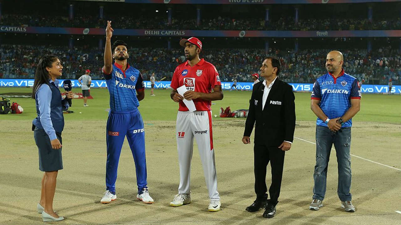 Delhi Capitals (DC) welcomed Kings XI Punjab (KXIP) to the Feroz Shah Kotla Stadium for match 37 of the Indian Premier League (IPL). Shreyas Iyer won the Toss and opted to bowl. Chris Gayle and KL Rahul walked out to open the batting. (Image: BCCI, iplt20.com)