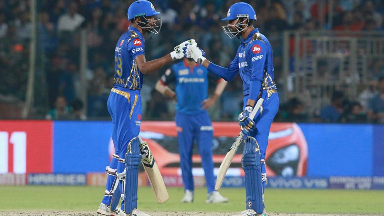 Kagiso Rabada got Suryakumar caught behind in the 16th over reducing Mumbai to just 104/4. However, quick knocks from Hardik Pandya (32 off 15 balls) and Krunal Pandya (37* off 26 balls) resulted in Mumbai finishing with 168/5 on the board. (Image: BCCI, iplt20.com)