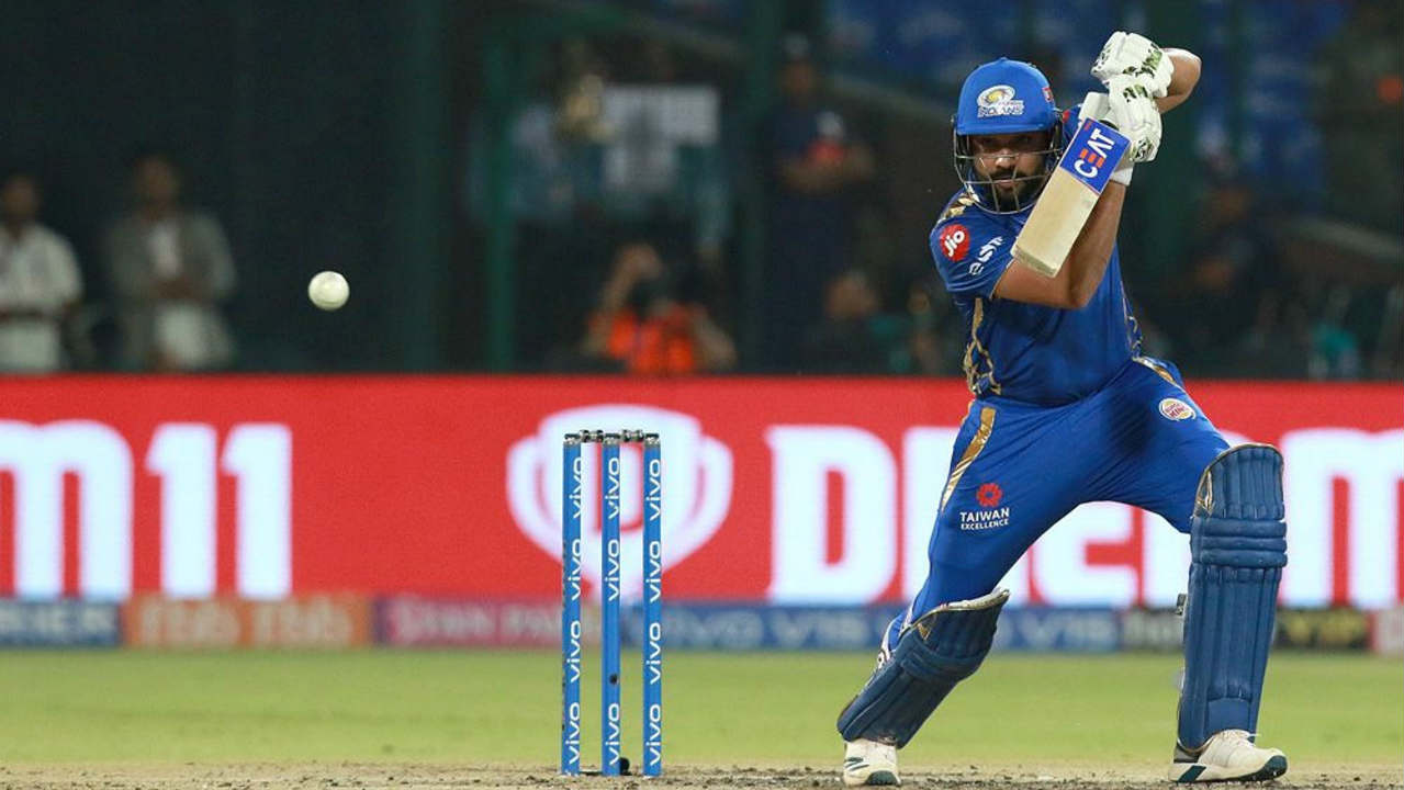 Mumbai got off to a good start with a 57-run partnership off just 38 balls between Quinton de Kock and Rohit Sharma. (Image: BCCI, iplt20.com)