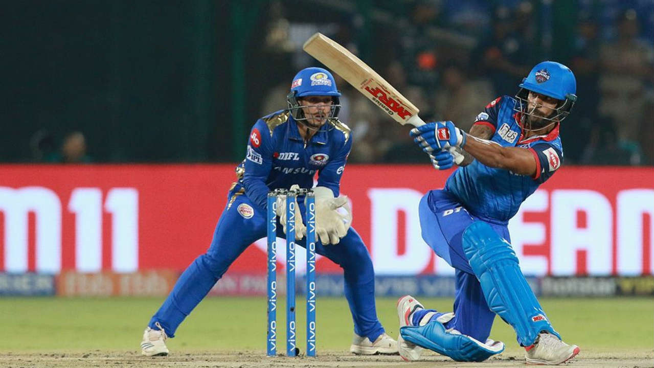 Delhi got off to a good start with a 49-run partnership off 39 balls between Prithvi Shaw and Shikhar Dhawan. (Image: BCCI, iplt20.com)