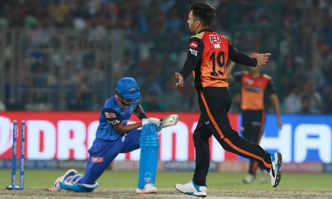 Rashid Khan ended Iyer's stay at the crease as he fooled him with a googly which went on to hit the off-stump. Iyer returned after making a fighting 43 off 41 balls. Delhi were reduced to just 93/6 at the fall of Iyer's wicket. (Image: BCCI, iplt20.com)