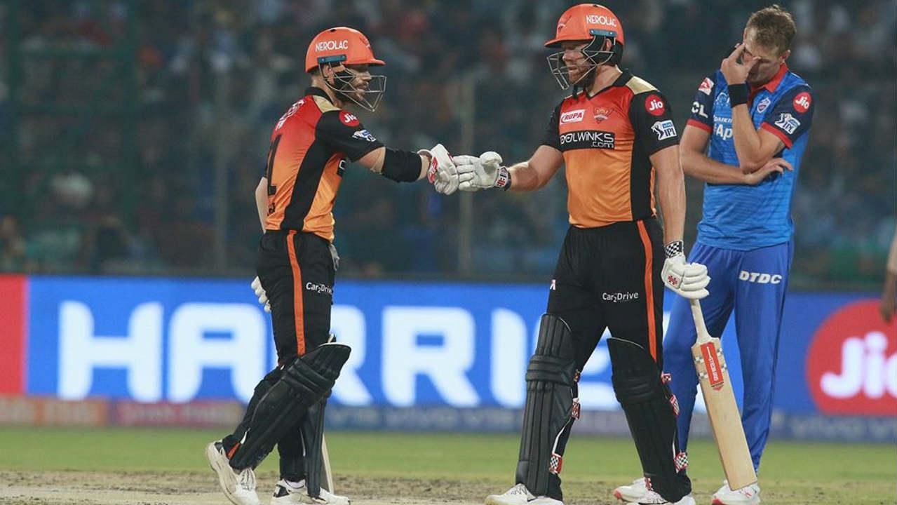 The Sunrisers run-chase got off to a flier as Jonny Bairstow looked like he was batting on a completely different surface. The Englishman scored 48 off 28 balls stitching together a 64-run partnership for the first wicket with David Warner. Bairstow was finally dismissed LBW by Rahul Tewatia in the 7th over. (Image: BCCI, iplt20.com)