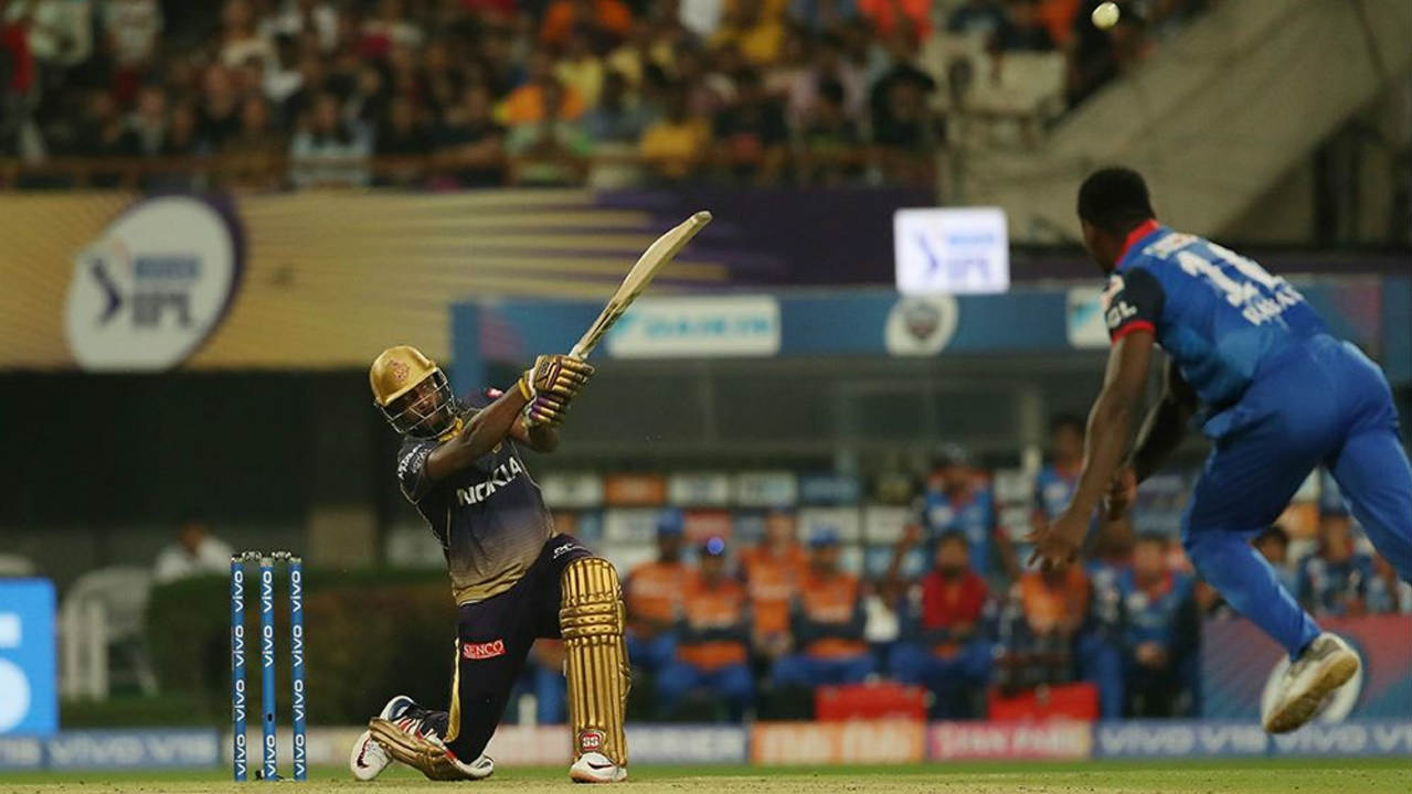 Andre Russell played another blockbuster innings scoring 45 off just 21 balls before he was dismissed by Chris Morris in the penultimate over. Piyush Chawla played a handy little cameo of 14 off 6 balls as KKR finished with 178/7 on the board. (Image: BCCI, iplt20.com)