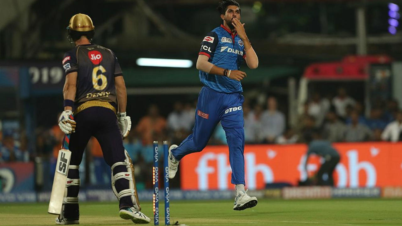 Delhi got off to a great start as Ishant Sharma castled debutant Denly off the very first delivery of the game. (Image: BCCI, iplt20.com)