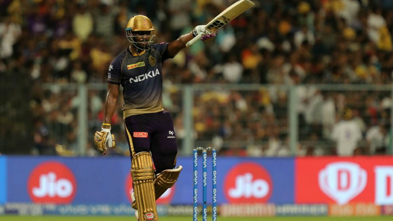 Andre Russell got off to a slow start scoring just 29 off the first 21 balls he faced. However he exploded after Gill's dismissal bringing up his fifty off just 30 balls in the 19th over. Russell finished unbeaten with 80* off just 40 balls. (Image: BCCI, iplt20.com)