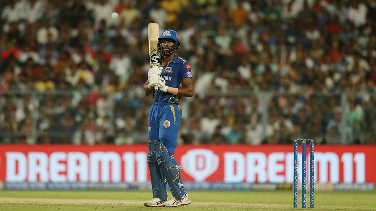 Hardik Pandya was absolutely brilliant and scored the fastest fifty of IPL 2019 off just 17 balls in the 14th over. He gave KKR a scare sharing a 64-run partnership off 28 balls with his brother Krunal. Gurney finally got him caught out by Russell in the 18th over. Hardik finished with 91 off just 34 balls taking MI to 185/6. Krunal (24 off 18) was dismissed in the final over as MI finished with 198/7 just 34 runs short of KKR's total. (Image: BCCI, iplt20.com)