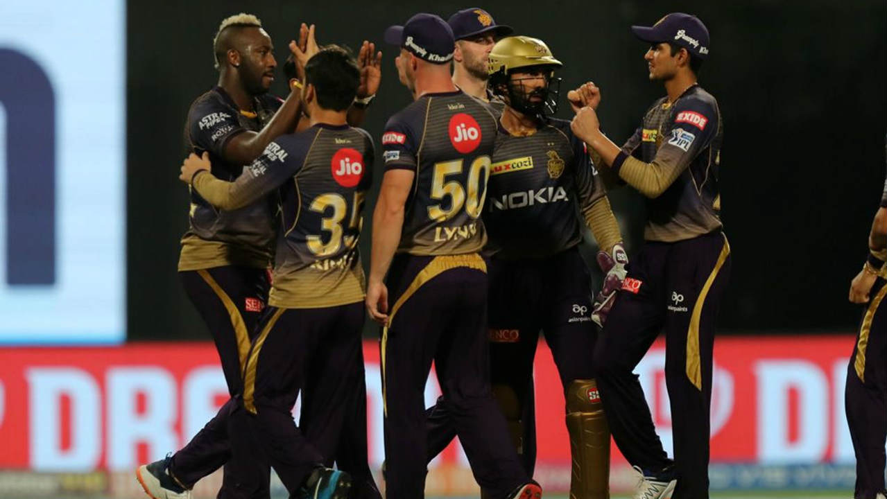 KKR got off to a great start getting rid of both openers inside the first 4 overs. Sunil Narine first got Quinton de Kock caught out in the 2nd over. Harry Gurney then trapped MI skipper Rohit LBW in the 4th over. Rohit wasn't happy with the dismissal and even knocked off the bails at the non-striker's end after an exchange with the umpire. (Image: BCCI, iplt20.com)