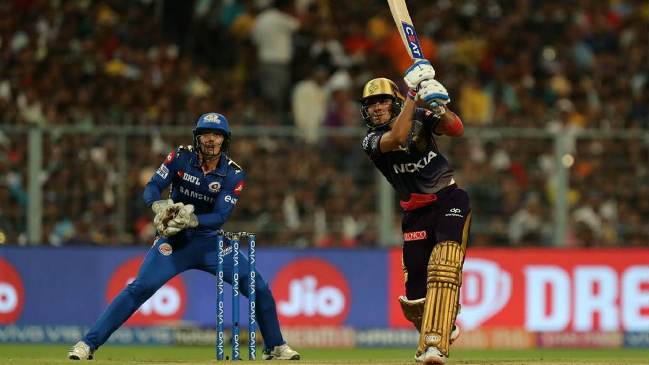 19-year-old Gill who was playing his second consecutive match at the top of the order brought up his fifty in the 11th over off 32 balls. He continued his brilliant form at the crease stitching together a 62-run partnership with Andre Russell. Gill was finally dismissed by Hardik Pandya in the 16th over when he found Lewis in the field. He returned with 76 off 45 balls as KKR were well placed at 158/2. (Image: BCCI, iplt20.com)