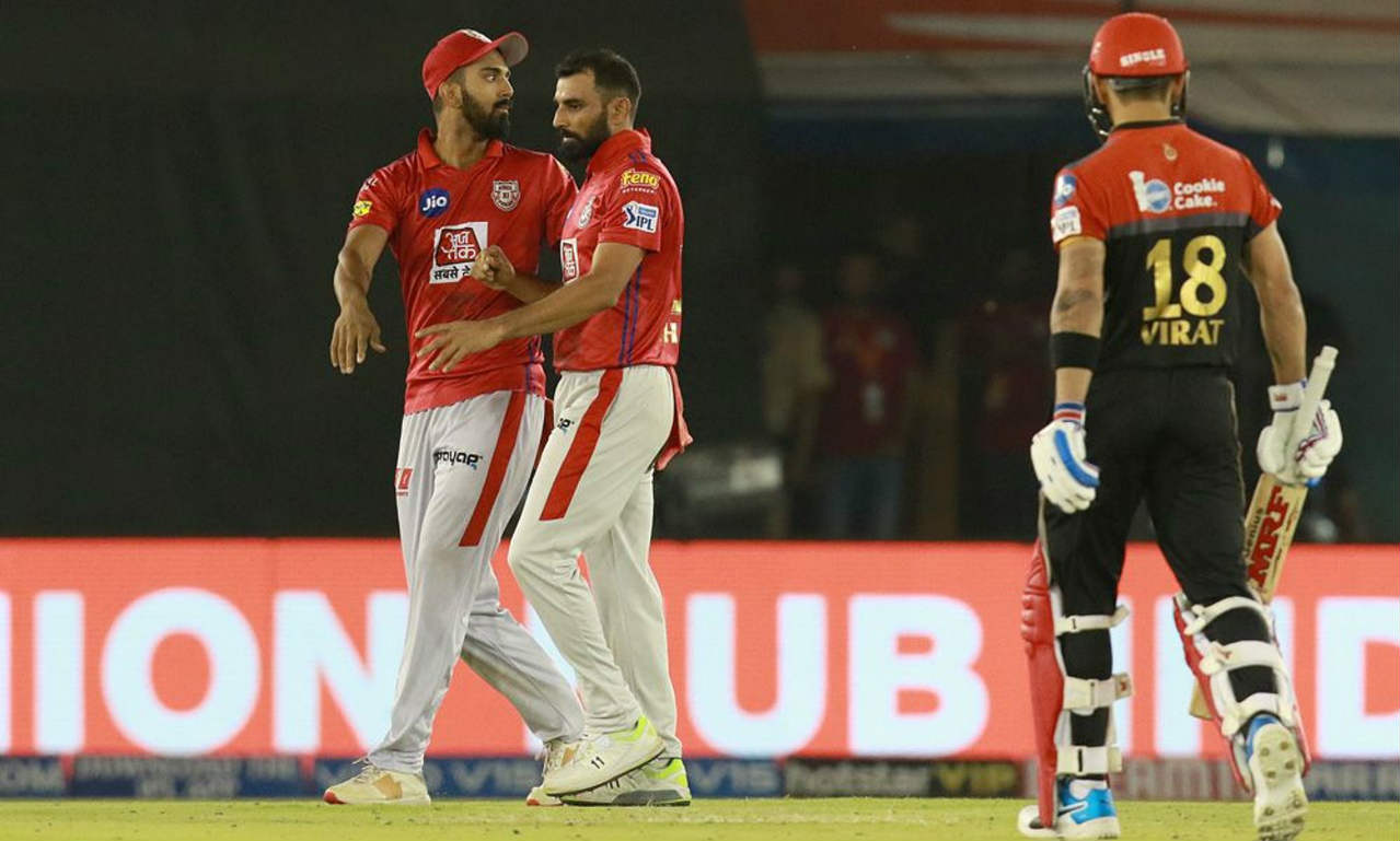 Kohli looked set to take his team home but was caught out when going the pull shot against Mohammed Shami in the 16th over. Kohli returned after scoring 67 off 53 balls. Bangalore still needed 46 runs from 27 balls when Kohli walked to the dugout. (Image: BCCI, iplt20.com)