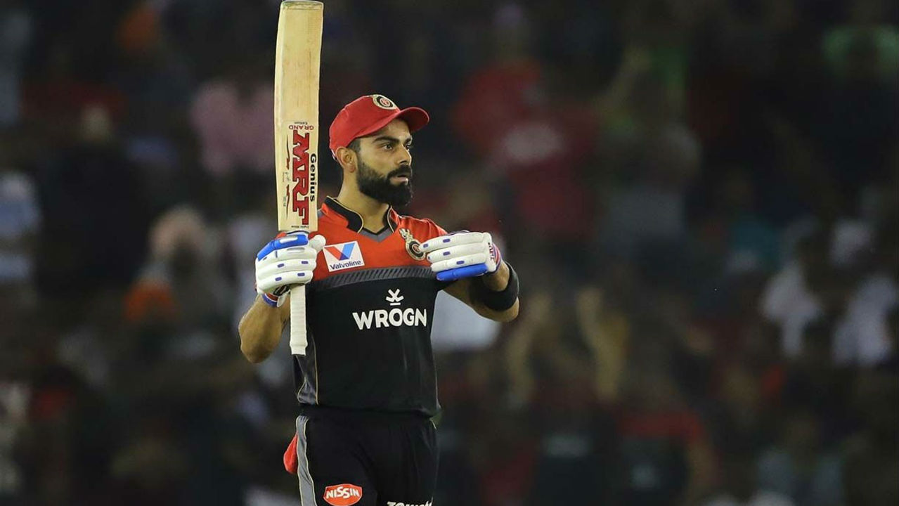 ipl 2019, kxip vs rcb, virat kohli fifty