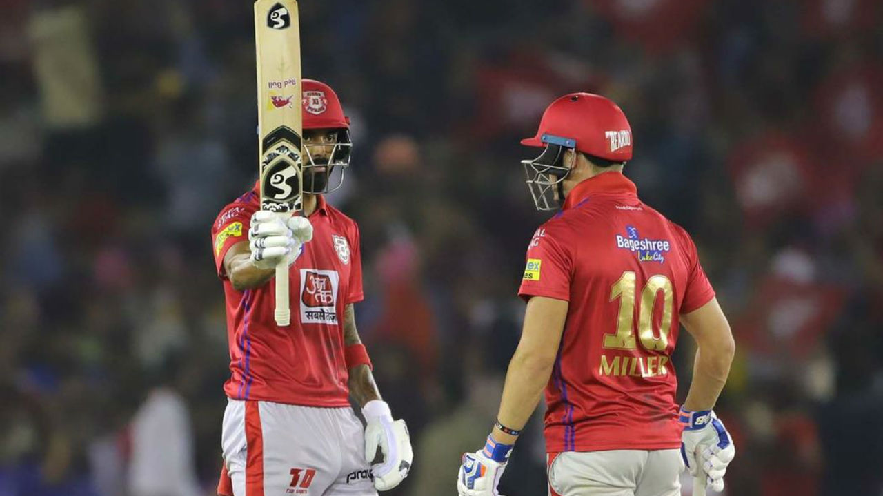 KL Rahul and David Miller stitched a 85-run partnership as the two batsmen steadied the Punjab's innings in the middle overs. During the course of the partnership Rahul completed his fifty.