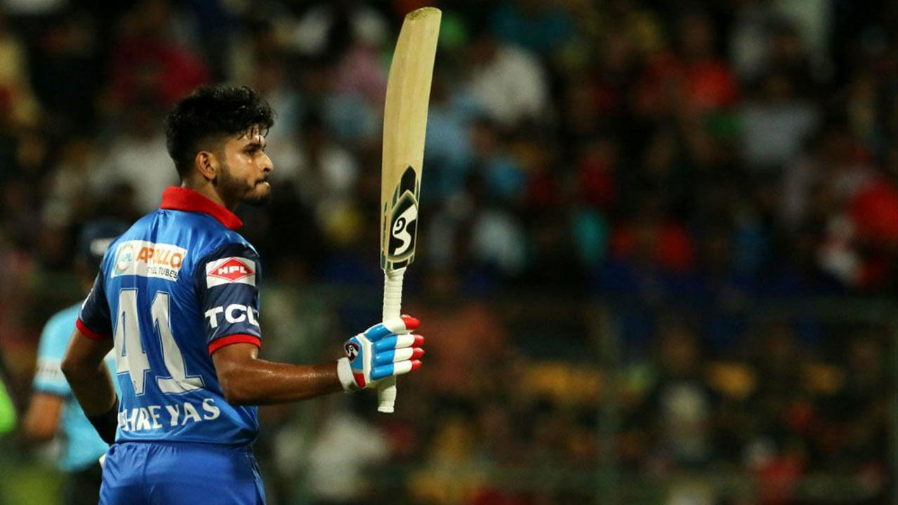 ipl 2019, rcb vs dc, iyer fifty