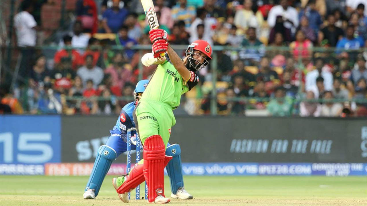 Moeen Ali looked impressive hitting three sixes during but was dismissed by Sandeep Lamichhane in the 15th over after making 32 off 18 balls. Moeen was outdone by the googly as he came down the track but missed with Pant knocking off the bails. RCB were reduced to 103/4 at the fall of Moeen's wicket. (Image: BCCI, iplt20.com)