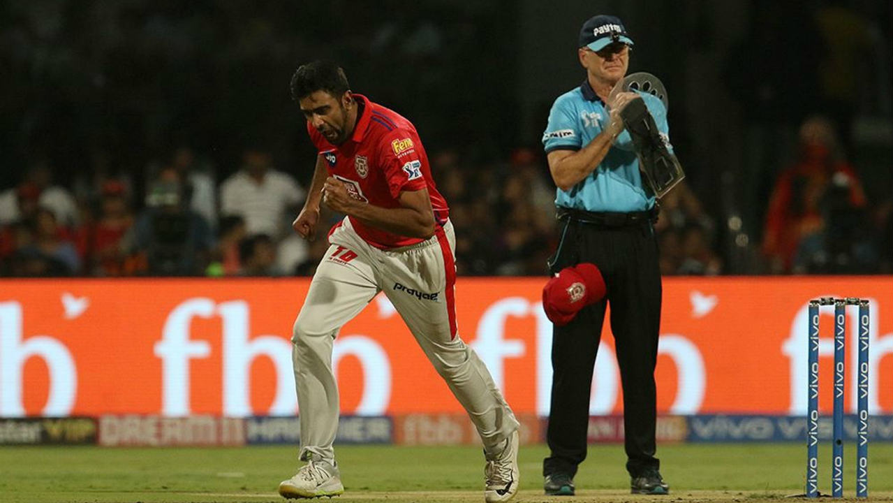 KXIP skipper Ashwin then introduced himself into the attack and struck a decisive blow when he rattled the stumps of Moeen Ali who has been dangerous in recent games. Viljoen then got Akshdeep Nath caught out in the next over as RCB were reduced to 81.4 after 9 overs. (Image: BCCI, iplt20.com)