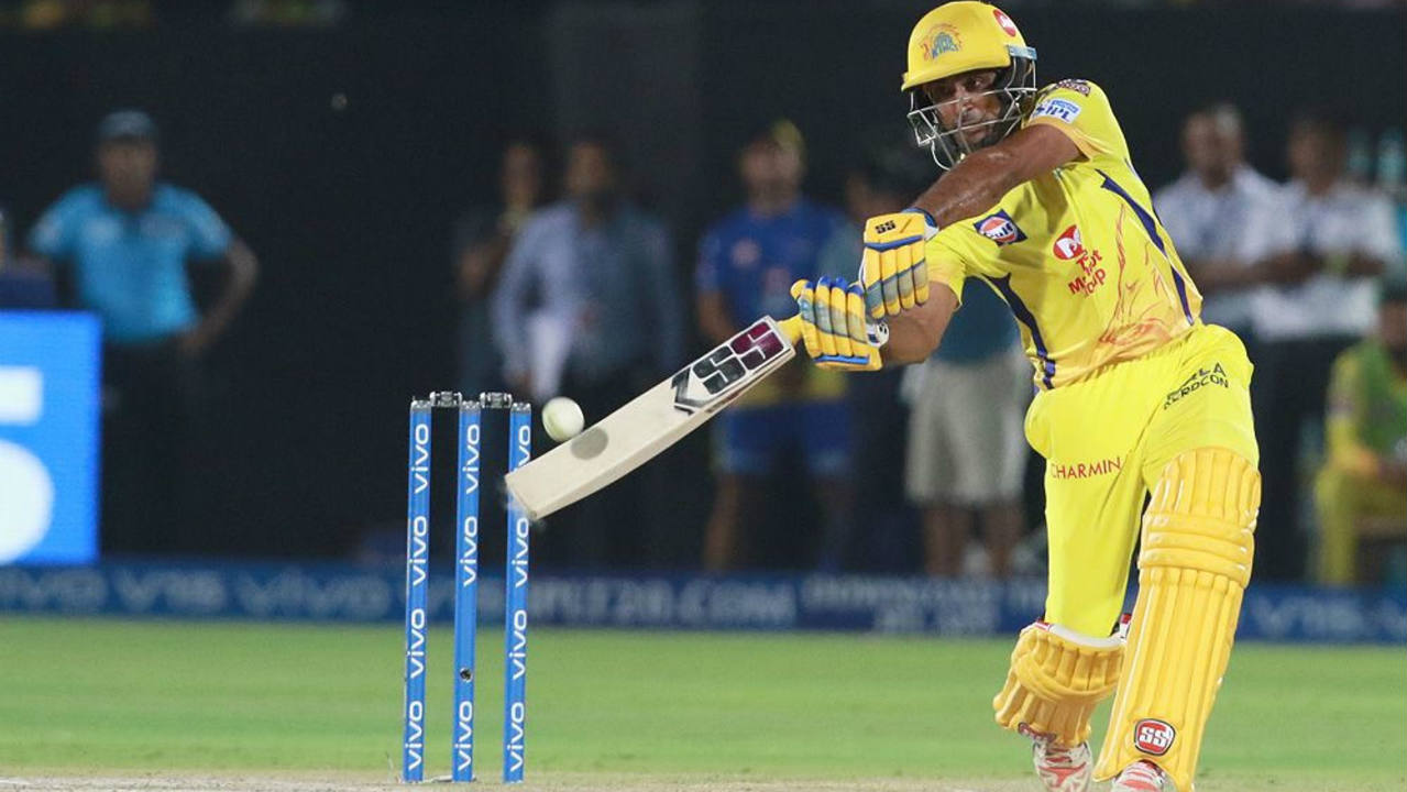 The early wickets brought MS Dhoni out to the crease much earlier than anticipated. The CSK skipper went on to stitch a brilliant partnership with Ambati Rayudu to steady the innings. Rayudu even brought up his fifty in the 15th over with a boundary off Unadkat. (Image: BCCI, iplt20.com)