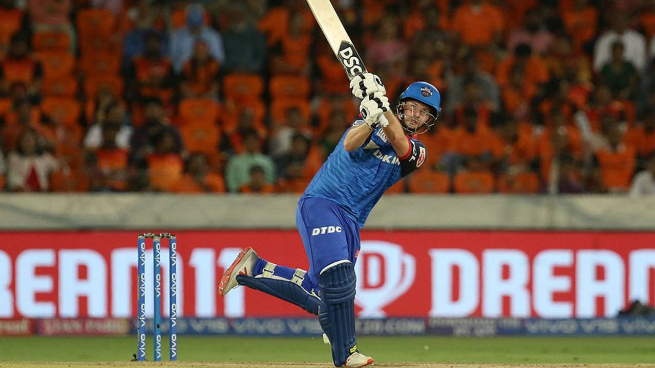 Colin Munro who was also playing his first game of the season, got off to a blistering start scoring 40 off just 24 deliveries before SRH debutant Abhishek Sharma got him caught behind in the 8th over. Delhi were down to 69/3 when Munro walked back. (Image: BCCI, iplt20.com)