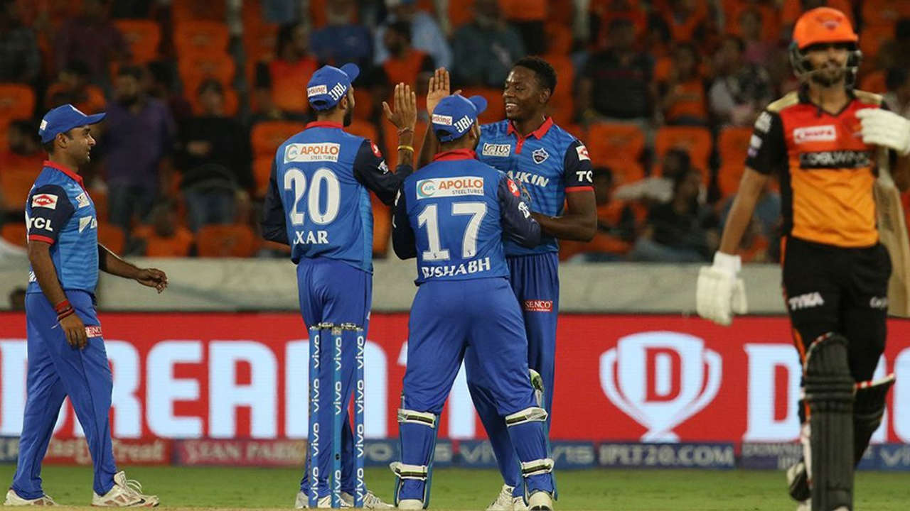 Kagiso Rabada then dismissed Bhuvneshwar Kumar and Khaleel Ahmed off consecutive deliveries in the next over to seal the win by 39 runs. Rabada finished with figures of 4/22 taking his season's tally to 17. Delhi moved up to second spot on the table with 10 points. (Image: BCCI, iplt20.com)