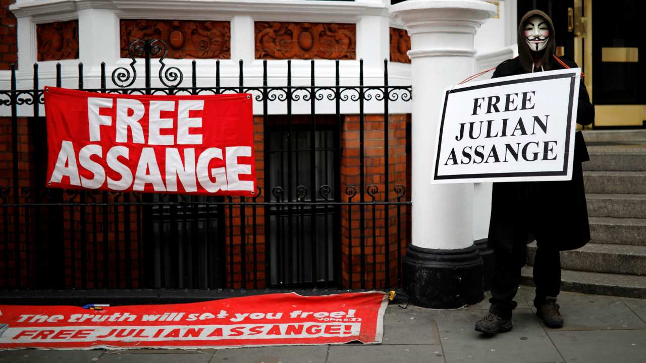 June 2012: After a series of appeals to highest courts of Britain against his extradition were denied, Assange seeks asylum in Ecuador, and resides in their London Embassy. (Image: Reuters)