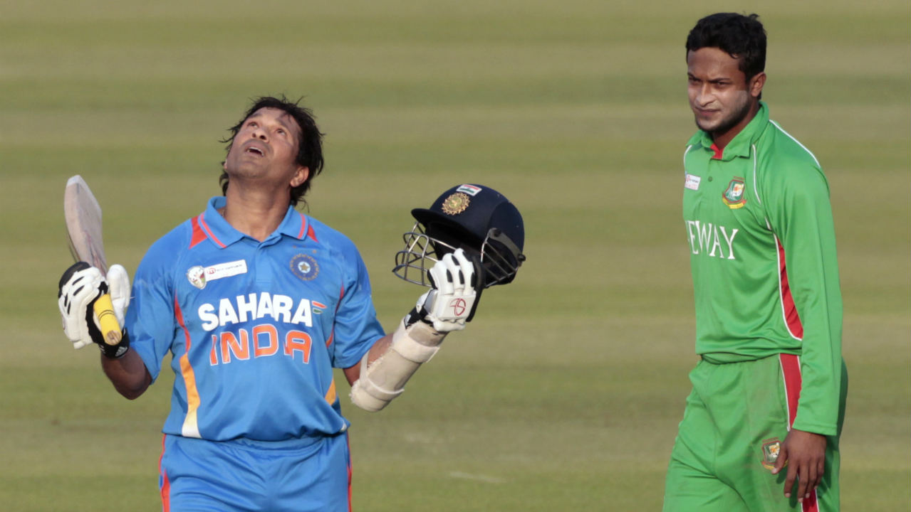 Tendulkar became the first player to score 100 International century in 2012 with a ton against Bangladesh during an Asia Cup match. The same year he announced his retirement from ODI cricket. Tendulkar finished with 18,426 ODI runs to his name along with 49 centuries. (Image: Reuters)