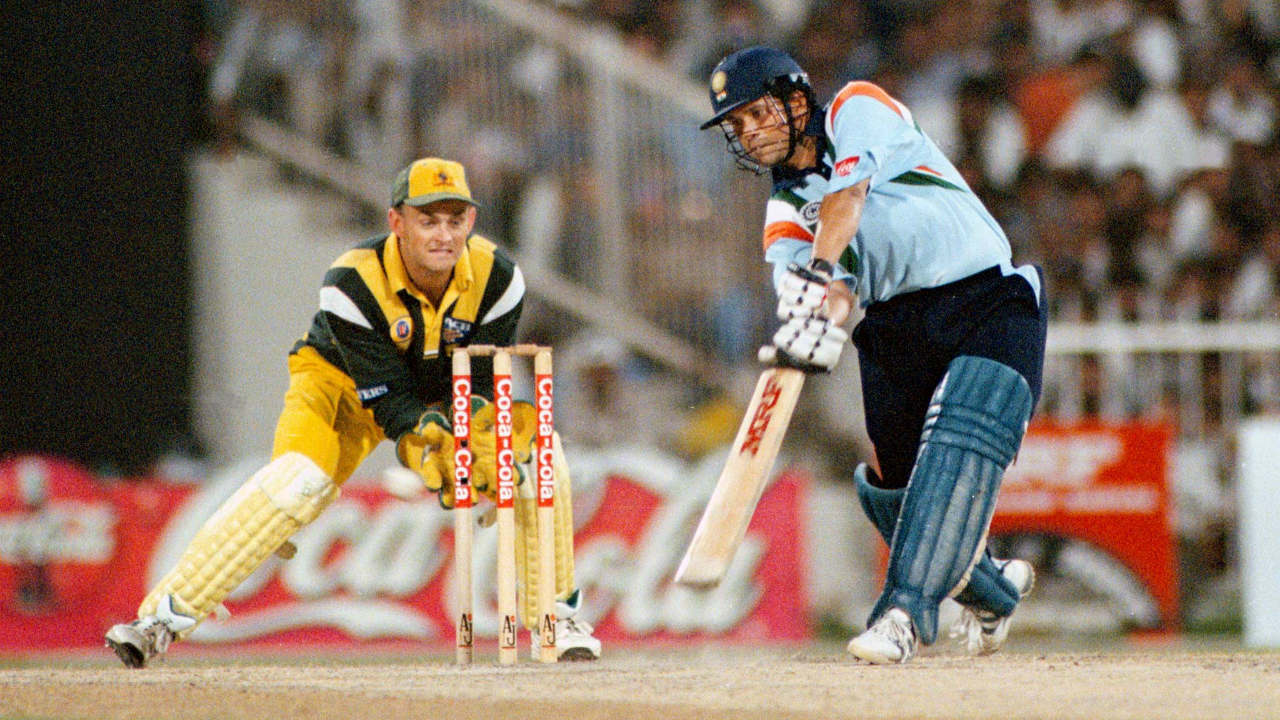 Tendulkar finished as the leading run-scorer during the 1996 World Cup with a total of 523 runs. The next year he was named as Wisden Cricketer of the Year. (Image: Reuters)