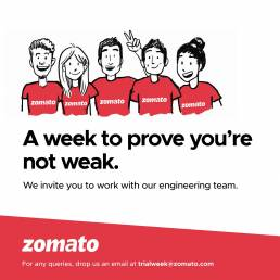 Zomato wants engineers to sample their work culture for one week