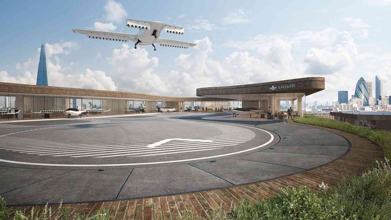 The Lilium Jet is expected to have designated landing pads around specific areas, which could be functional soon. (Image: Lilium)