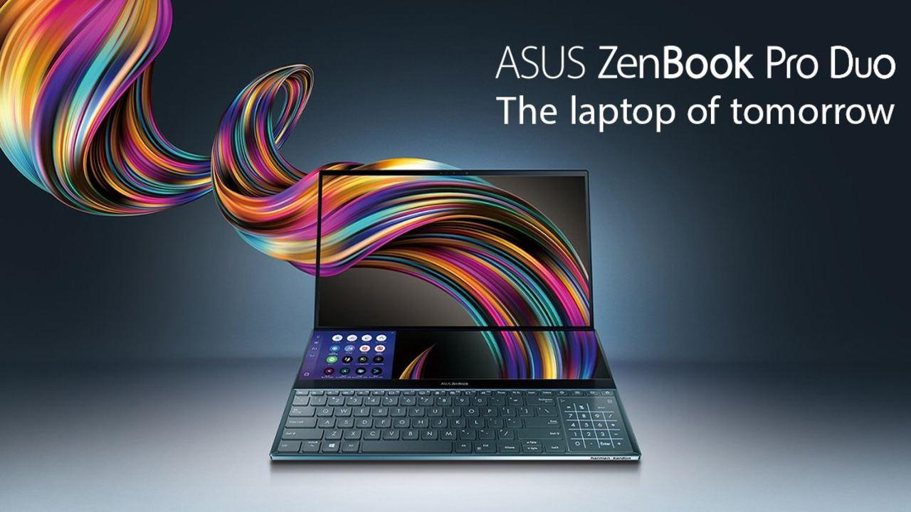 Best Laptop | Asus ZenBook Pro Duo | The Asus ZenBook Pro Duo takes laptop innovation to a whole new level. The ZenBook features dual 4K touchscreens with the first panel using OLED technology. The notebook is designed for creative professionals and features hardware to match its innovative design, packing a Core i9 CPU and Nvidia RTX 2060 GPU.