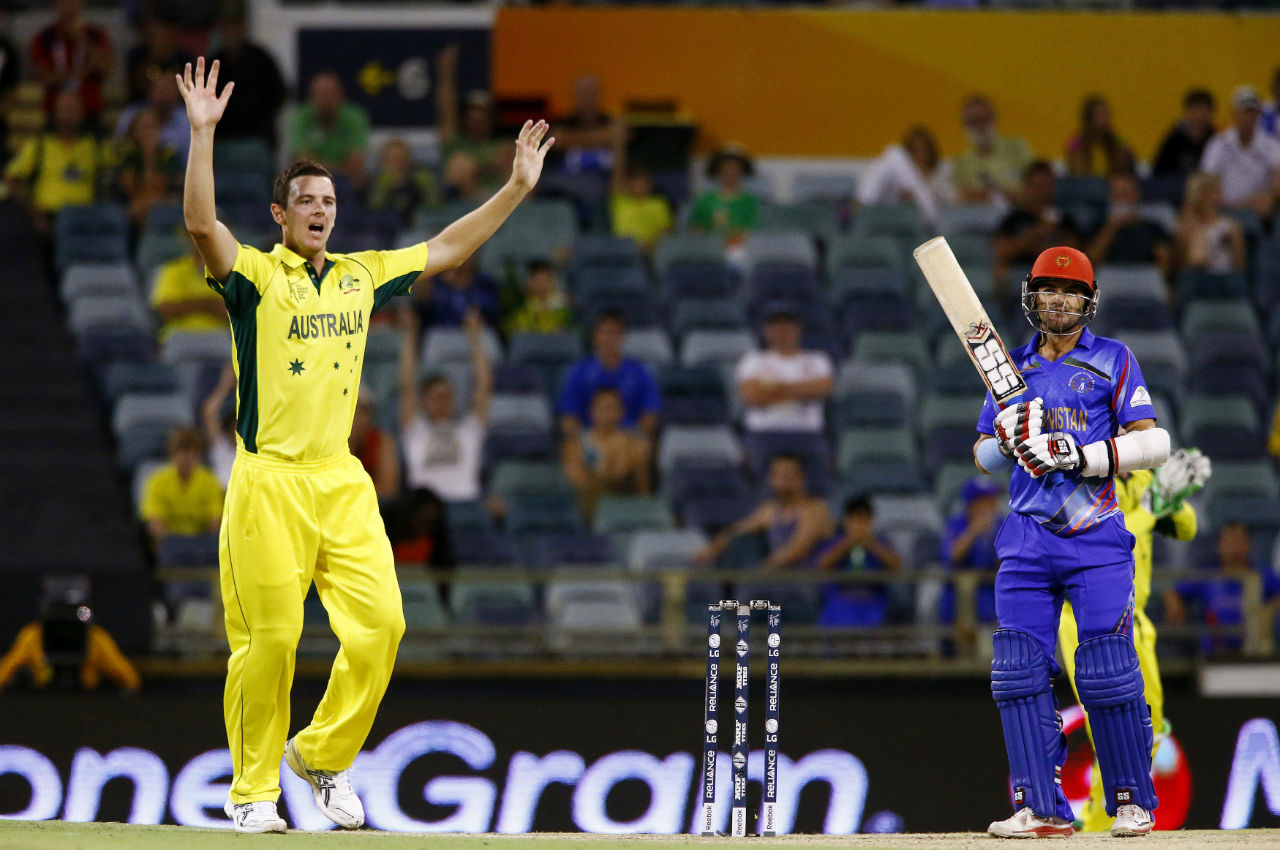 Highest team total | Australia hammered a daunting 417/6 against Afghanistan in the 2014 edition of the World Cup. That total remains the highest team total in the history of the World Cup. (Image: Reuters)