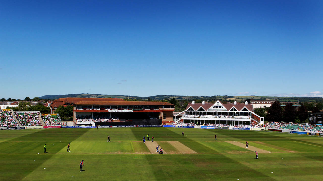 County Ground Taunton, Taunton | Established: 1882 | Capacity: 8,000 | The venue will be remembered fondly by Indian fans for being the ground where Sourav Ganguly and Rahul Dravid set the then record for highest partnership in ODI cricket with a 318-run stand against Sri Lanka in 1999. Three matches will be played at Taunton this year. (Image: Reuters)