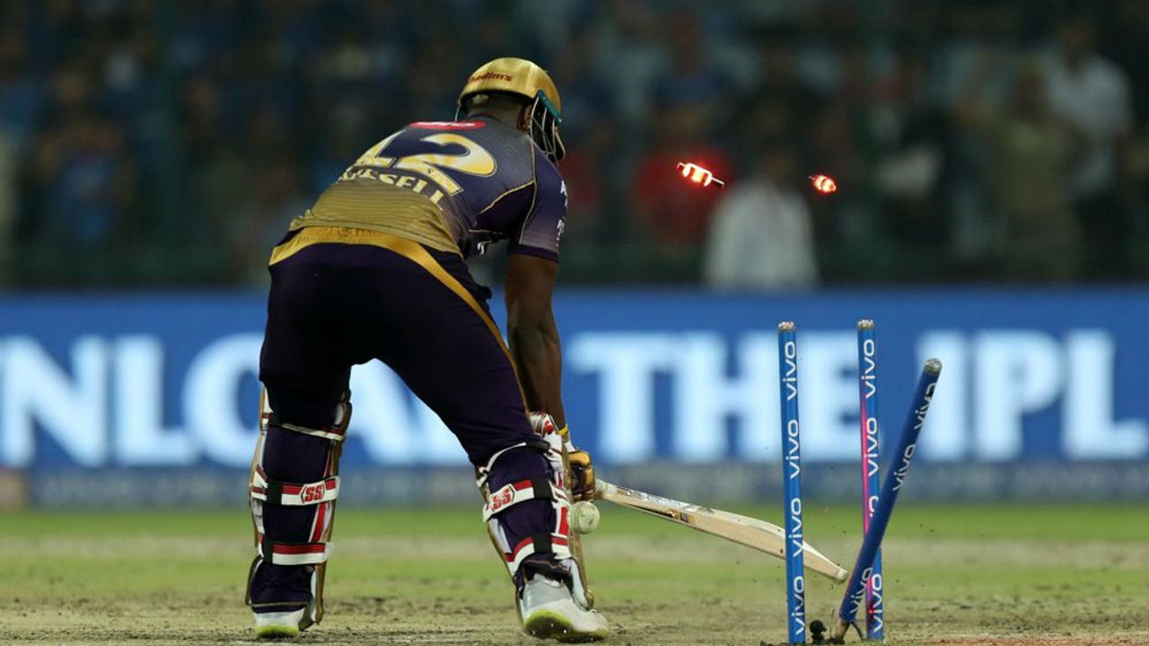 DC vs KKR Super Over b| The first tied match of IPL 2019 was played between Delhi Capitals and Kolkata Knight Riders. The Super Over saw Kagiso Rabada knocking the middle stump of in form Andre Russell. Delhi clinched 2 points thanks to Rabada's superb over.