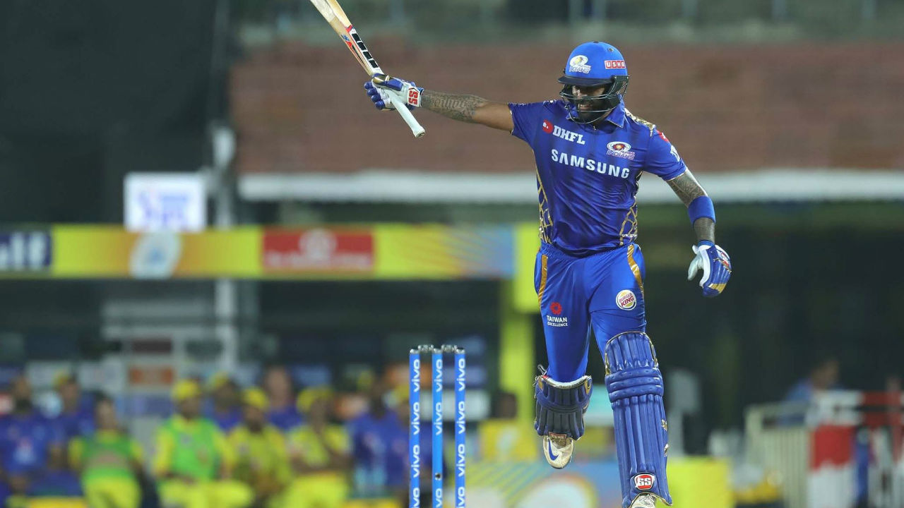 Suryakumar completed his fifty in the 14th over and remained not-out on 71 as MI chased the total down in 18.3 overs to qualify for the finals of IPL 2019.