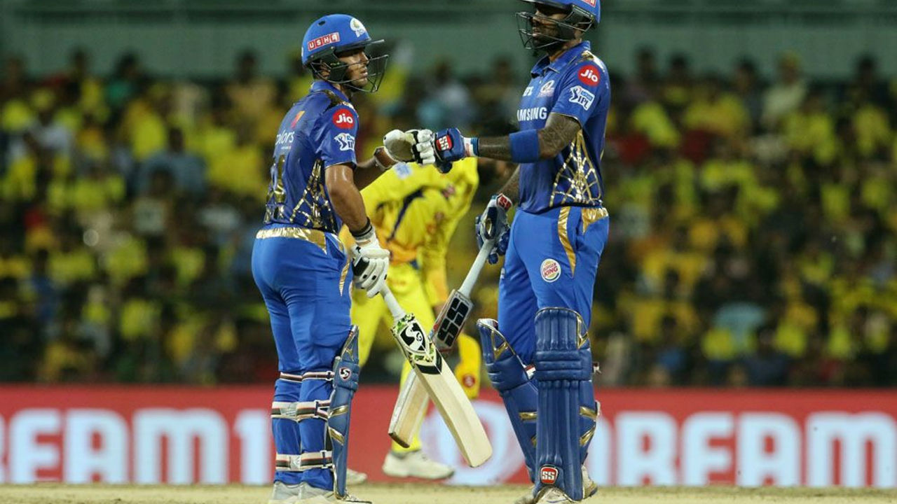 After the early jolts, Ishan Kishan and Suryakumar Yadav steered the Mumbai's chase as the two batsmen put up a 80-run stand.