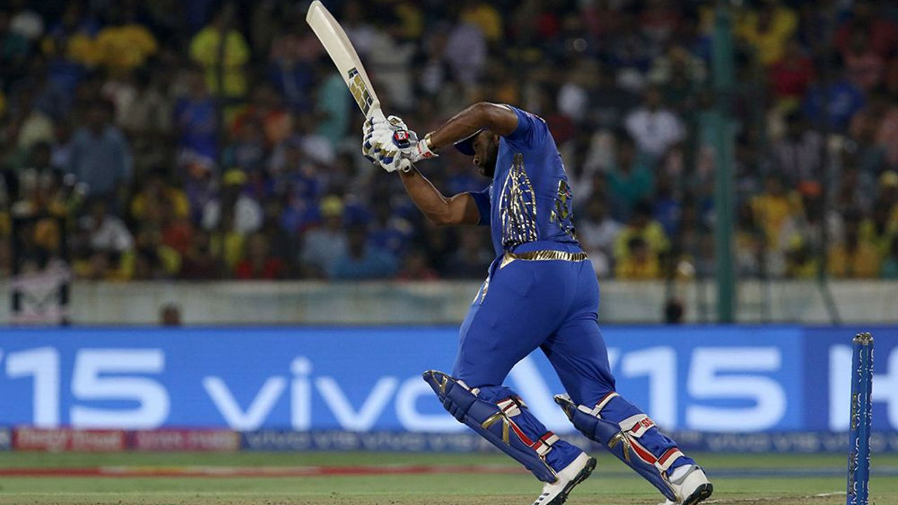 Kieron Pollard's unbeaten 41 from 25 balls to help MI finish with a respectable total of 149/8 in 20 overs thus setting CSK a target of 150 to win the IPL 2019 title.