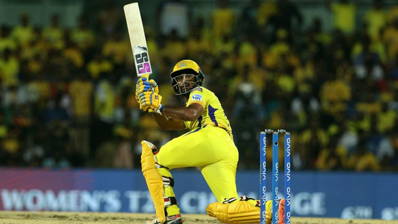 Ambati Rayudu then along with Dhoni put together a 66-run partnership as CSK finished with 131/4 in 20 overs.