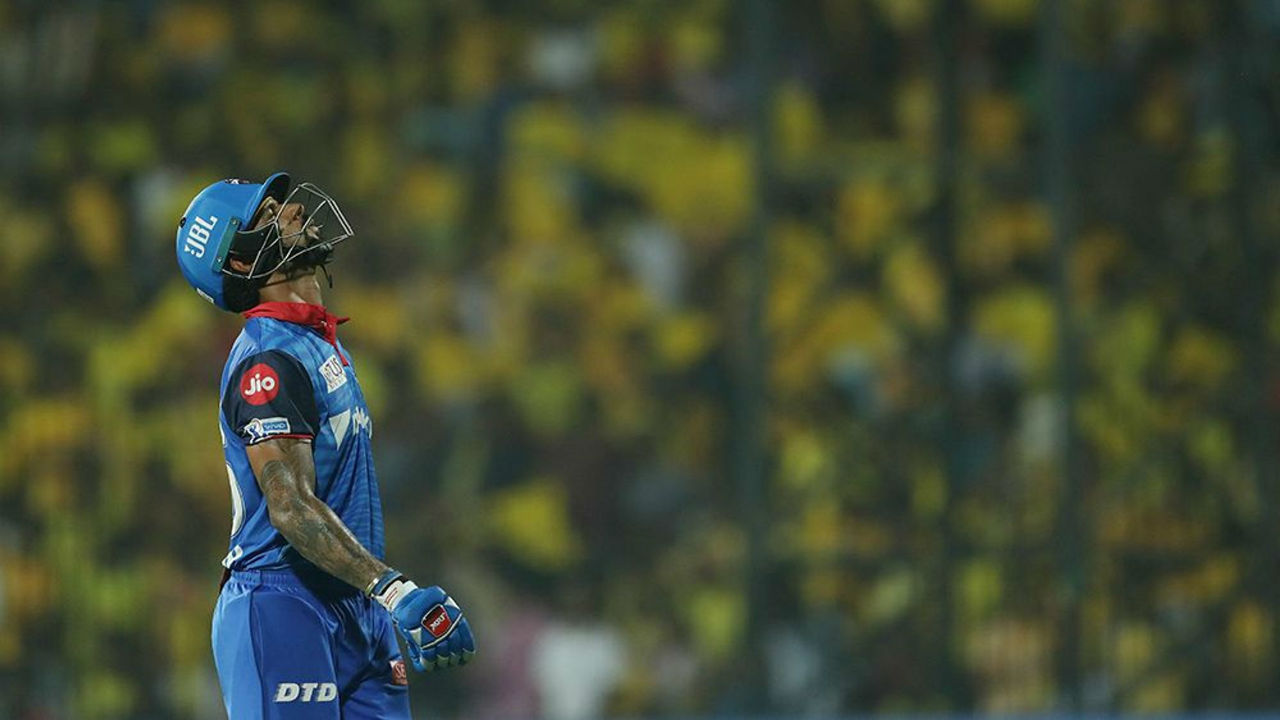 Dhawan was dismissed in the 6th over by Harbhajan Singh. Dhawan made 19.