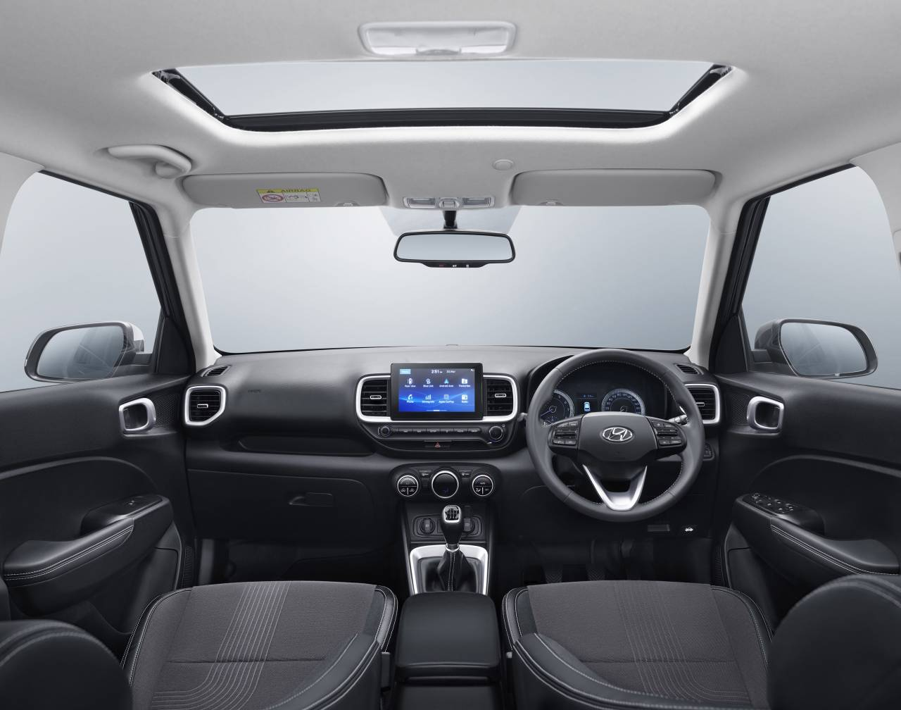 "Hyundai really hopes to stand-out with the Venue is the connected feature. The ""Hyundai Blue Link"" technology has an in-built, tamper-proof device with a cloud-based voice recognition platform from a global artificial intelligence company. (Image: Hyundai)"