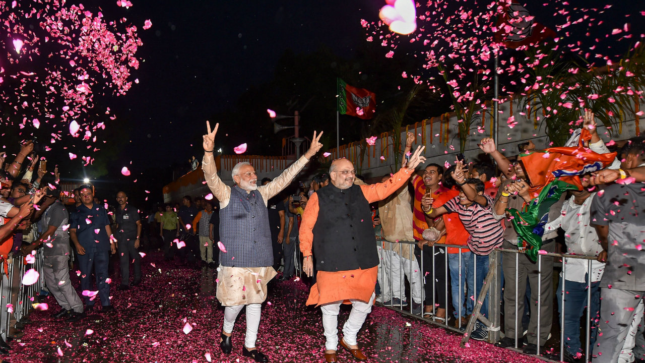 Lok Sabha election results 2019 | In Pics: PM Modi delivers victory speech, says mandate will 'baffle the world'
